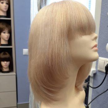 Натуральный парик на шёлке, полностью ручной работы